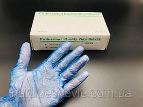 Перчатки латексные голубые, 100 шт., фото 3