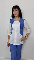 Женский медицинский костюм Лика коттон ткань три четверти рукав