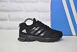 Кроссовки подростковые черные сетка в стиле Adidas Springblade унисекс, фото 2