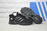 Кроссовки подростковые черные сетка в стиле Adidas Springblade унисекс, фото 4