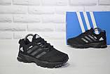 Кросівки підліткові чорні сітка в стилі Adidas Springblade унісекс, фото 5