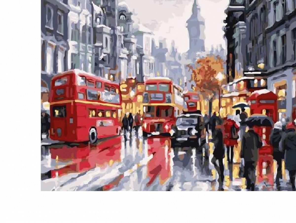 Картина по номерам Шумный Лондон 40х50 см, BrushMe (GX21871)
