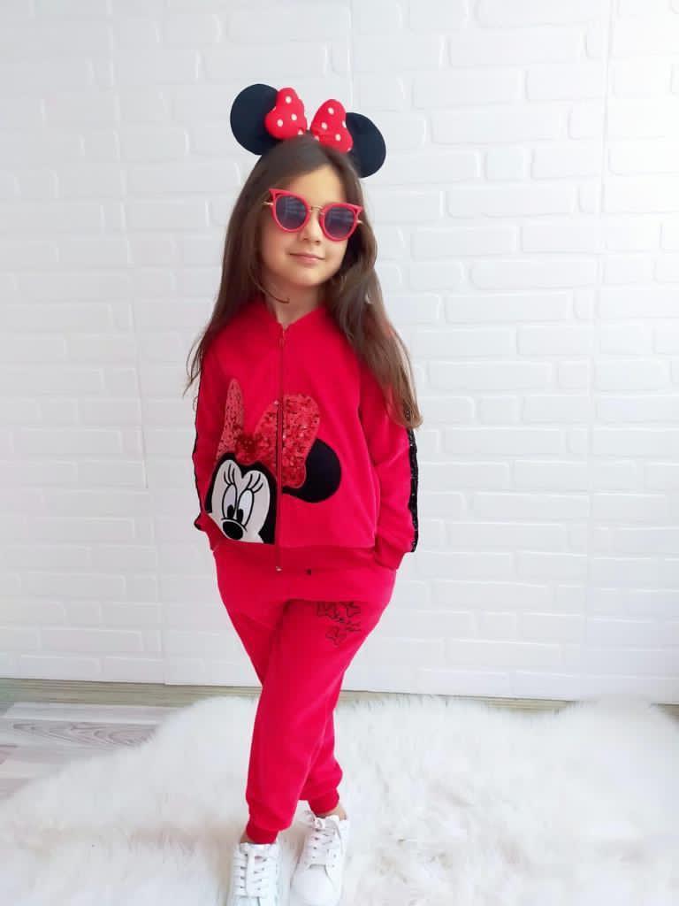 Дитячий спортивний костюм для дівчинки Турція Super Minnie Mouse red