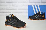 Кроссовки подростковые черные с оранжевым сетка в стиле Adidas Springblade унисекс, фото 4
