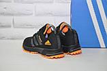 Кроссовки подростковые черные с оранжевым сетка в стиле Adidas Springblade унисекс, фото 3