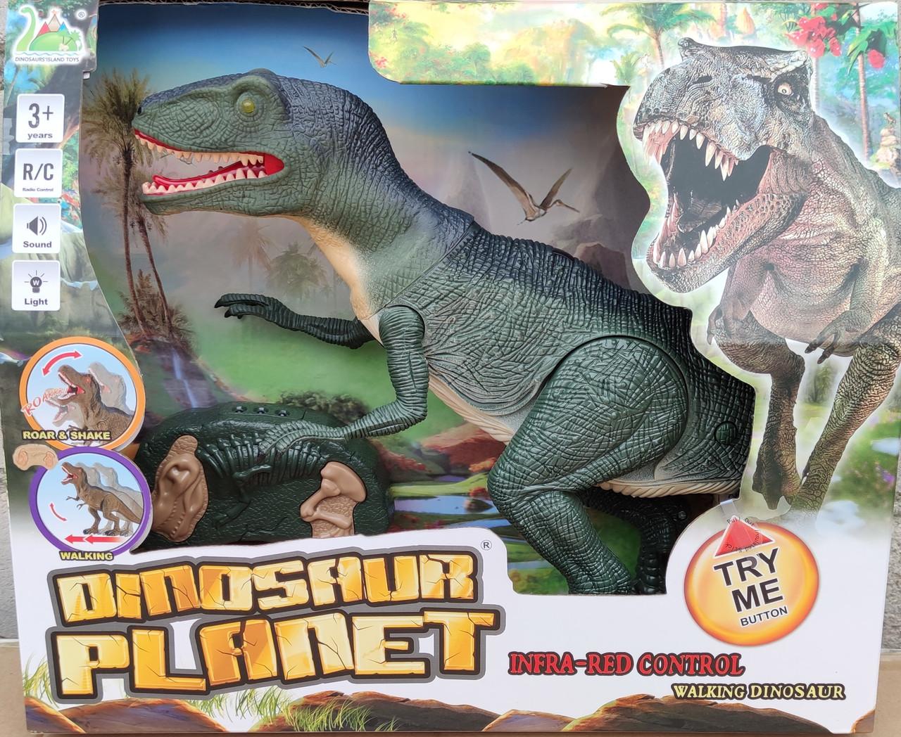 Интерактивная игрушка динозавр на радио пульте управления робот Dinosaur