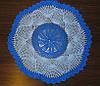 Салфетка, синяя, голубая, вязаная крючком, ручная работа. Отличный подарок женщине на 8 Марта