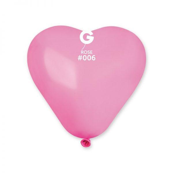"""Латексна кулька серце рожевий 6""""/06/16см"""