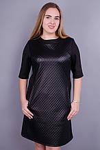 Чикаго. Стильне чорне плаття великих розмірів. Чорний. 54-56