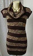 Платье свитер вязаное акрил мини бренд Chesley р.42 4225а