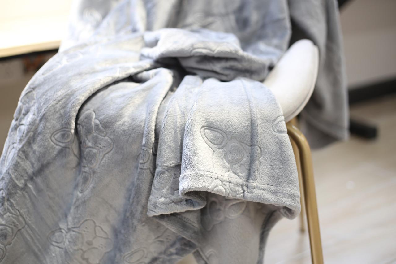 Плед флисовый Bella Villa 160х200 см серый