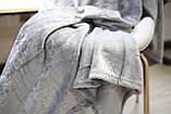 Плед флисовый Bella Villa 160х200 см серый, фото 5