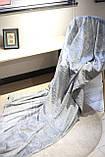 Плед флисовый Bella Villa 160х200 см серый, фото 2