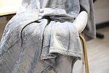 Плед флисовый Bella Villa 200х220 см серый