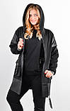 Дана. Жіноча куртка великих розмірів. Чорний., фото 2