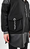 Дана. Жіноча куртка великих розмірів. Чорний., фото 10