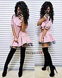 Красиве жіноче плаття костюмка і фатин (3 кольори), фото 5