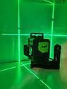СУПЕРЯРКИЙ 3D!!! 100м!!! Лазерный уровень Huepar HP-903CG с зелёными лучами+приемник, фото 2