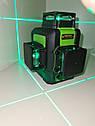 СУПЕРЯРКИЙ 3D!!! 100м!!! Лазерный уровень Huepar HP-903CG с зелёными лучами+приемник, фото 3