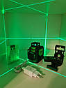 СУПЕРЯРКИЙ 3D!!! 100м!!! Лазерный уровень Huepar HP-903CG с зелёными лучами+приемник, фото 6