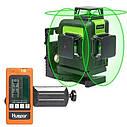 СУПЕРЯРКИЙ 3D!!! 100м!!! Лазерный уровень Huepar HP-903CG с зелёными лучами+приемник, фото 7