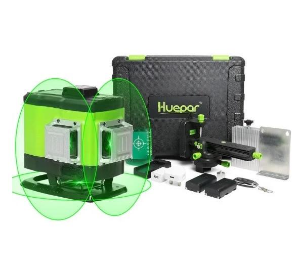 ДЛЯ СТЯЖКИ И ПОЛА!  Лазерный  3D уровень Huepar 503DG с зелёными лучами