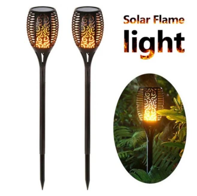 Садовый светильник Факел [Flame Light] 2 шт с имитацией огня > на солнечной батарее > водонепроницаемый