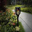 Набір садових светильнико Факел [Flame Light] 6 шт з імітацією вогню > на сонячній батареї > водонепроникний, фото 3