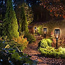 Набір садових светильнико Факел [Flame Light] 6 шт з імітацією вогню > на сонячній батареї > водонепроникний, фото 4