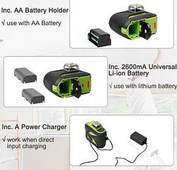 ☀GREEN LINE☀ Лазерный уровень Huepar 3D HP-603CG + дополнительный аккумулятор