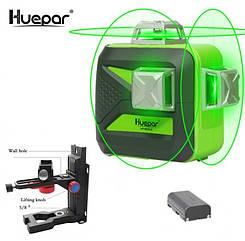 ☀СУПЕРКОМПЛЕКТ☀ Лазерный уровень Huepar 3D HP-603CG + мощный кронштейн FUKUDA