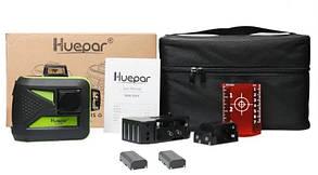 ☀RED ЛУЧ⇒30м☀Лазерный уровень Huepar 3D HP-603CR ➤ li-on-аккумулятор 2 шт➤