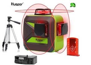 ☀ RED-30m ☀ Лазерный уровень Huepar 3D HP-603CR ➤ штатив В ПОДАРОК ➤