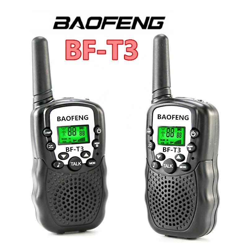КОМПЛЕКТ ИЗ ДВУХ РАЦИЙ BAOFENG BF-T3 UHF->BLACK. Радиус до 3км