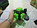 ПРОФИ 2020. SHARP 12 линий. Лазерный нивелир Huepar B03CG+КРОНШТЕЙН+МИШЕНЬ+акб 5200мАч, фото 4