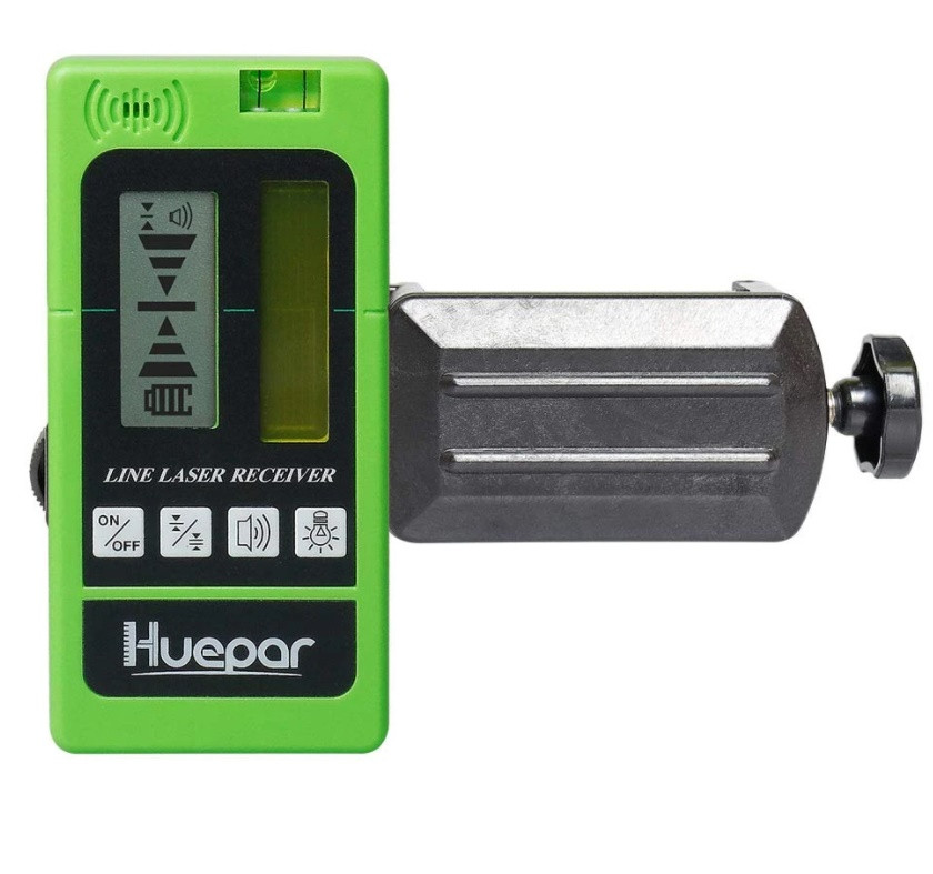 Приёмник HUEPAR LR-5RG-GN для лазерных уровней (зеленый/красный луч)