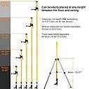 Втулка штанга штатив Huepar для лазерного рівня 3.7 м ✔ ↘↘↘краще Bosch TT 320↘↘↘, фото 2