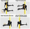 Втулка штанга штатив Huepar для лазерного рівня 3.7 м ✔ ↘↘↘краще Bosch TT 320↘↘↘, фото 4