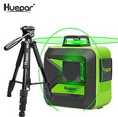 ☀Лазерный уровень Huepar 3D HP-603CG + штатив HUEPAR
