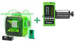 ☀Лазерный уровень Huepar 3D HP-603CG + приемник луча HUEPAR