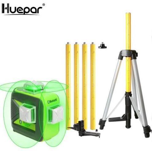 ☀Лазерный уровень Huepar 3D HP-603CG + распорная штанга-штатив 3.7 м HUEPAR