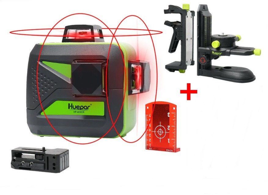 ☀Лазерный уровень Huepar 3D HP-603CR ➤ усиленный магнитный кронштейн HUEPAR➤