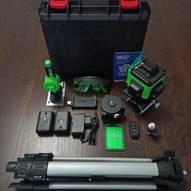 ᐉЗЕЛЕНЫЙ ПРОМІНЬ! Лазерний рівень XEAST XE-94D 16линий + д. у. ПУЛЬТ + ШТАТИВ в подарунок
