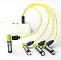 УСИЛЕННЫЙ! Аккумулятор Znter AAA 1,5V Li-Po 600 mah, зарядка через micro USB, фото 3
