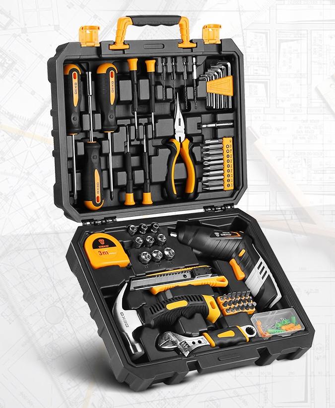 Набір інструментів DEKO DKMT168 для будівельників, автослюсарів, сантехніків, для дому