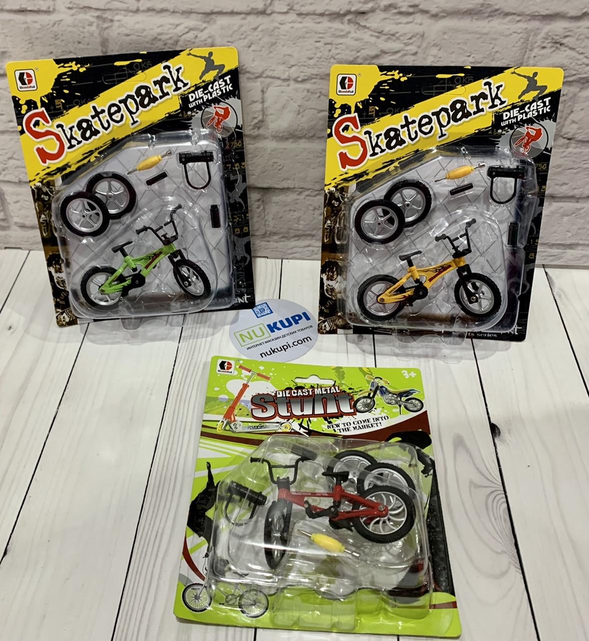 Пальчиковый велосипед Фингербайк Fingerbike BMX синструментами и сменными колесами