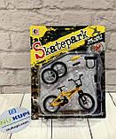 Пальчиковый велосипед Фингербайк Fingerbike BMX синструментами и сменными колесами, фото 4