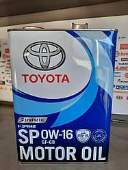 Моторное масло Toyota 0W-16