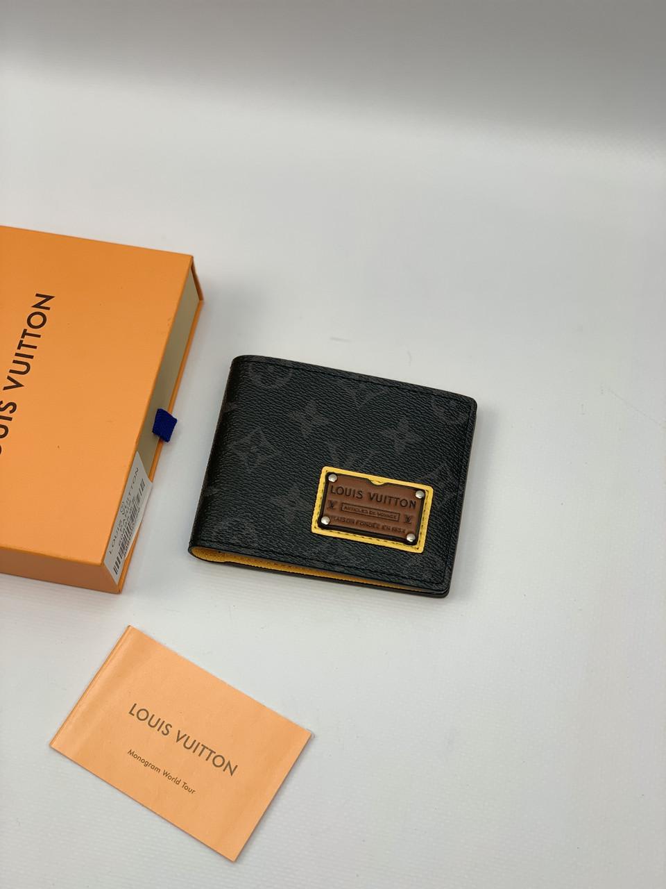 Кошелек LOUIS VUITTON бумажник клатч портмоне кожаный мужской женский премиум реплика AAA+
