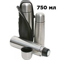 Металлический термос 750мл с чехлом питьевой термос UNIQUE (Реальные фото)